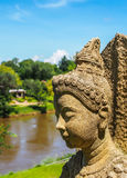 Buddha statue image. Side view of old buddha statue image Stock Images