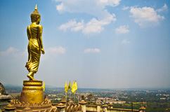 Buddha statue. The Buddha image of Thailand is enshrined on the hill Stock Images