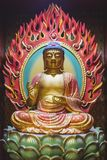 Buddha statue indoors Royalty Free Stock Photo