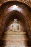 Buddha Statue Inside A Temple In Bagan Royalty Free Stock Image