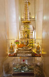 Buddha statue inside Golden mountain in Bangkok Stock Photo