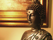 Buddha statue inside a house. 