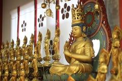 Buddha statue inside Osu Kannon Temple, Nagoya, Japan royalty free stock images