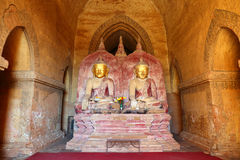 Buddha statue inside of Temple at Bagan Royalty Free Stock Photos