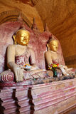 Buddha statue inside of Temple at Bagan Stock Photos
