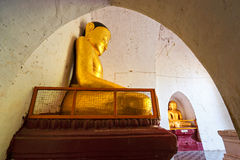 Buddha statue inside a temple. Bagan Myanmar. Royalty Free Stock Images
