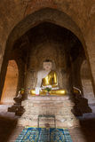 Buddha statue inside a temple in Bagan Stock Photo