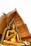 Buddha statue. Isolate on white background Royalty Free Stock Photography