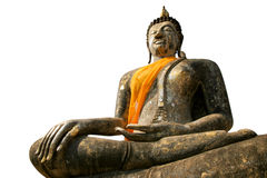 Buddha statue isolated Royalty Free Stock Images