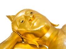 Buddha Statue Isolated. Golden Head of Buddha Statue Isolated Stock Photo