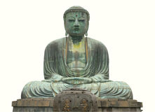 Buddha statue isolated with path Royalty Free Stock Images