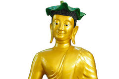 The Buddha statue. Isolated on the white background Stock Photo