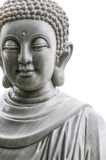 Buddha statue isolated on white background. Royalty Free Stock Photography