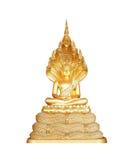 Buddha statue isolated on white background, Thailand Art Royalty Free Stock Images