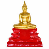 Buddha statue on isolated white . Stock Images
