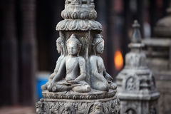 Buddha statue in Kathmandu city Stock Photos
