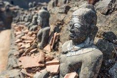 Buddha statue at Koe Thaung Temple, Mrauk U, Rakhine state, Myan Stock Photography