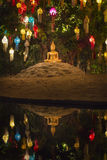 Buddha statue with lanterns Stock Photography