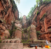 Buddha statue. Largest buddha statue in the world in Leshan,China Stock Photos