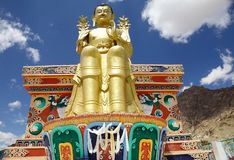 Buddha statue at the Likir Monastery, Ladakh, India stock image