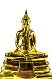 Buddha-Statue lokalisiert auf weißem Hintergrund Stockbild