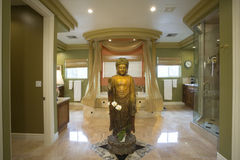 Buddha Statue In Luxurious Bathroom Royalty Free Stock Images