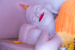 Buddha statue is lying in the temple Stock Image