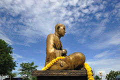 Buddha statue made ??of brass. Stock Photos
