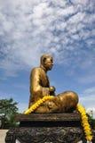 Buddha statue made ??of brass. Stock Photo