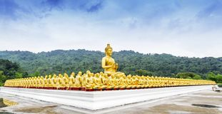 Buddha statue in Magha Puja park Royalty Free Stock Images