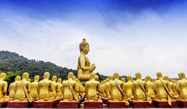 Buddha statue in Magha Puja park Royalty Free Stock Photo