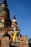 Buddha statue and Main Chedi Royalty Free Stock Photos