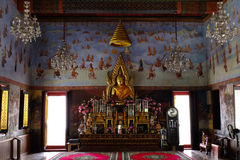 Buddha statue. In the main hall of the temple Stock Image