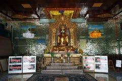 Buddha statue. MANDALAY, MYANMAR - CIRCA APRIL 2017 Buddha statue at Soon U Ponya Shin Pagoda Stock Images
