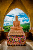 Buddha statue with marble. Temple Thailand Royalty Free Stock Photo
