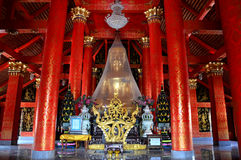 Buddha statue. Buddha means the image was created instead of the Lord Buddha. To worship May use materials such as stone carving of ivory, wood or other royalty free stock image