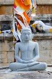 Buddha statue in meditation pose royalty free stock photo