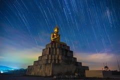 Buddha statue Meteor Nakhon Si Thammarat Thung Yai Thailand is colorful royalty free stock image