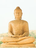 Buddha statue. With mountain background Royalty Free Stock Photos