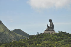 Buddha Statue Mountain Far Stock Photography