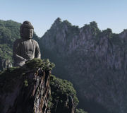 Buddha statue in the mountains Stock Photos