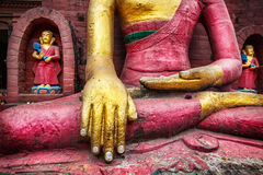Buddha-Statue in Nepal Stockfotos