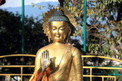 Buddha statue In Nepal. Stock Photography