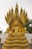 Buddha statue with nine headed serpent Stock Images
