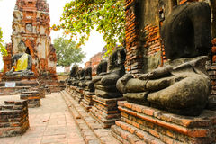 Buddha statue none head. The old statue none head at Ayutthaya,Thailand stock photo