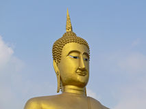Buddha statue. It is in Nonthaburi province in the middle part of Thailand Royalty Free Stock Photography