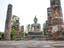 Buddha statue in northern of Thailand. 800 year old Buddha statues made ​​of plaster northern of Thailand Stock Photos
