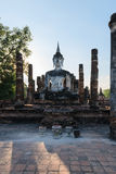 Buddha statue in old Buddhist temple ruins Stock Photos