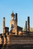 Buddha statue in old Buddhist temple ruins Royalty Free Stock Photos