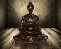 Buddha statue on old room Royalty Free Stock Photo